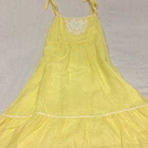 Lilly Pulitzer Yellow Linen Sundress Side Zip 8